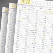 namisla, kalender 2018