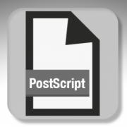 PostScript, namisla